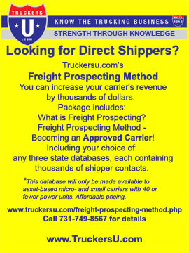 Freight Prospecting